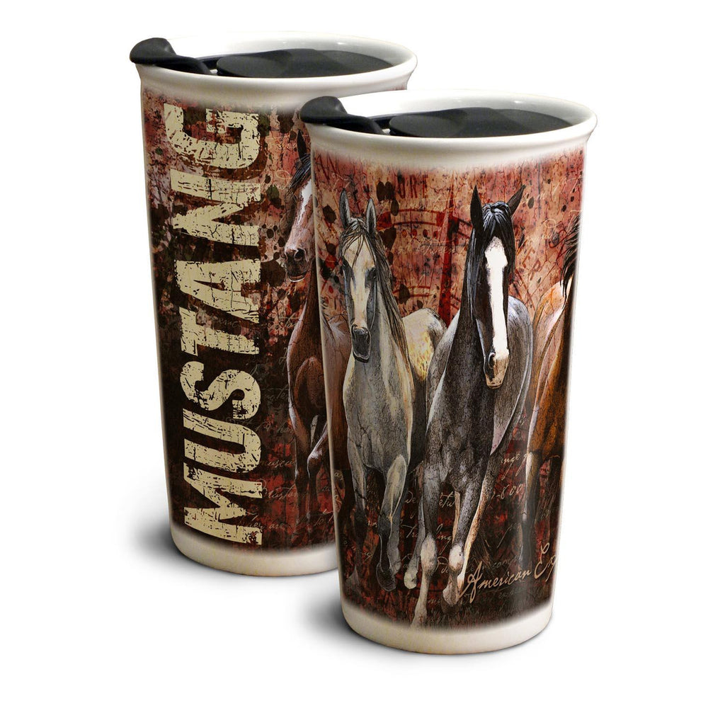 American Expedition Mustang 12 oz. Ceramic Travel Mug