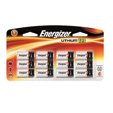 EL123-12 Energizer 123 Battery 12pk