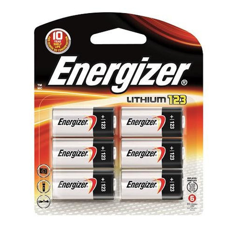 EL123BP Energizer 123 Battery 6pk