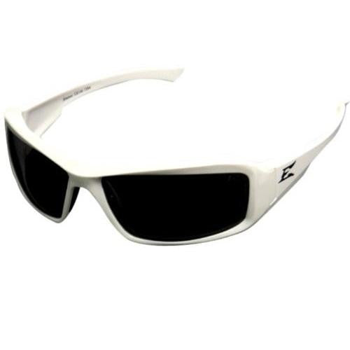 Edge Eyewear Brazeau White Frame Polarized Smoke Lens