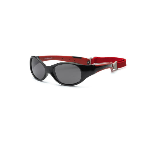 Real Kids Black-Red Flex Fit Removable Band  Smoke Lens 4+