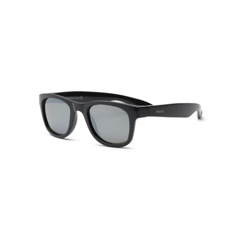 Real Kids Black Flex Fit Silver Mirror Lens 4+ Sunglasses