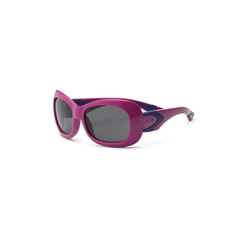 Real Kids Purple-Navy Flex Fit Smoke Lens 7+ Sunglasses