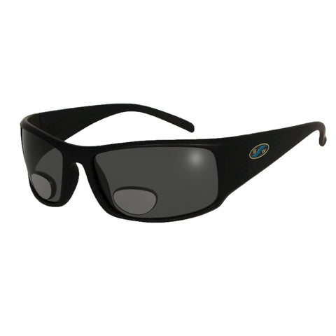 BlueWater Black Polarized Grey Lens Bifocals 3.0 Sunglasses