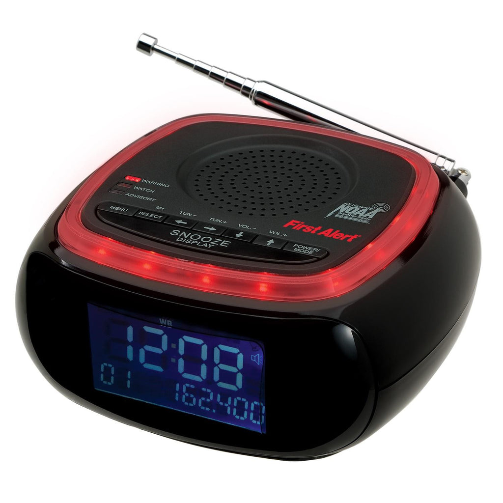 First Alert AM-FM Weather Band Clock Radio w-S.A.M.E. Alert