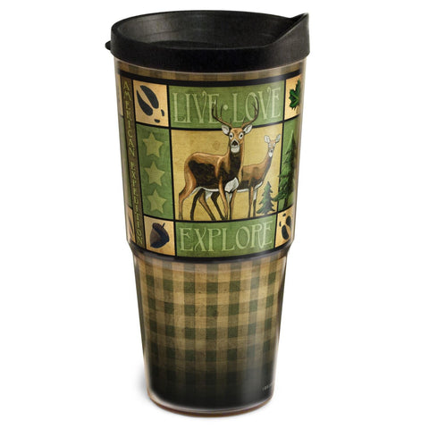 American Expedition 24oz Two-Tier Tumbler-Lodge Series Deer