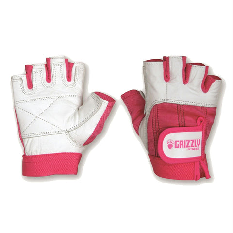 Grizzly Pink Ribbon Awareness Training Gloves - Medium