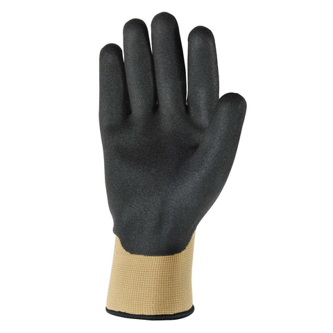 Wells Lamont Winter-Lined Nitrile Work Gloves for Men-Large