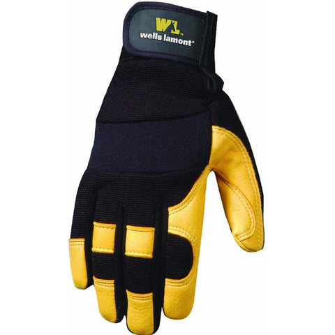 Wells Lamont Ultra Comfort Deerskin Work Gloves-Men-Med