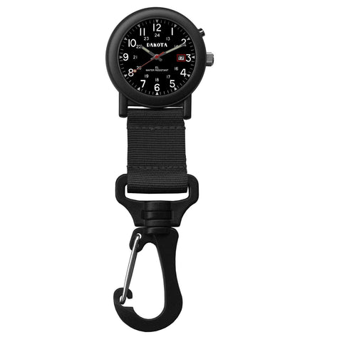 Dakota Light Backpacker Clip Watch w-Dial Light - Black