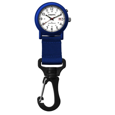 Dakota Light Backpacker Clip Watch w-Dial Light - Blue