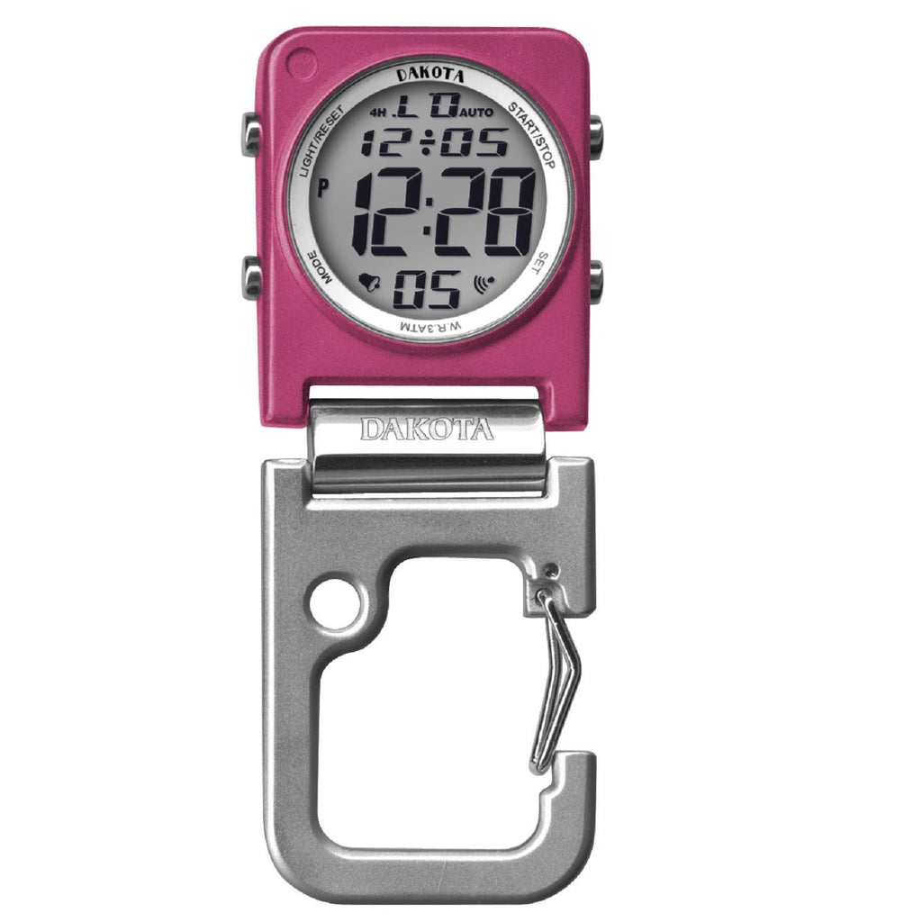 Dakota Digiclip Square Clip Watch - Pink