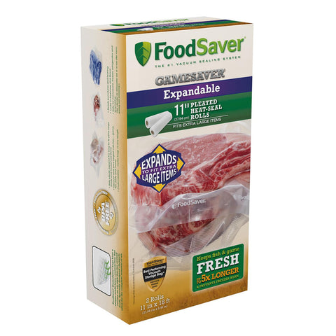 FoodSaver GameSaver 11 In X 18 Ft Expandable Heat-Seal Rolls