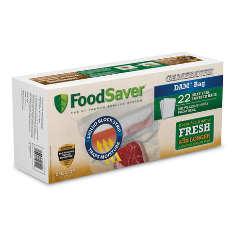FoodSaver GameSaver DAM Gallon Heat-Seal Bags - 22 Count