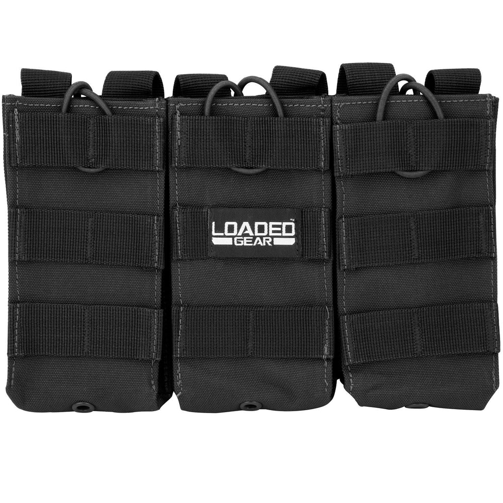 Barska Loaded Gear CX-200 Triple Magazine Pouch-Black