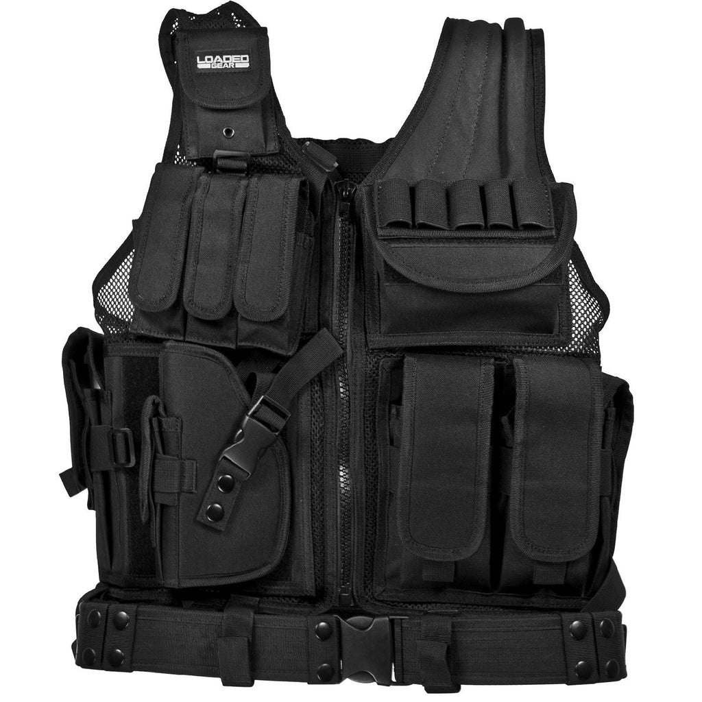 Barska Loaded Gear VX-200 Tactical Vest-Left Hand-Black