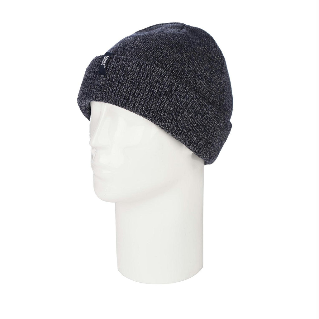 Grabber Heat Holders Mens Roll Up Toque-Navy