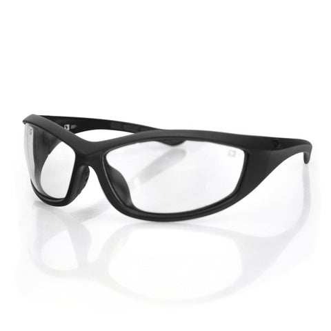 Bobster Zulu Ballistics Eyewear-Black Frame-Anti-fog Clear