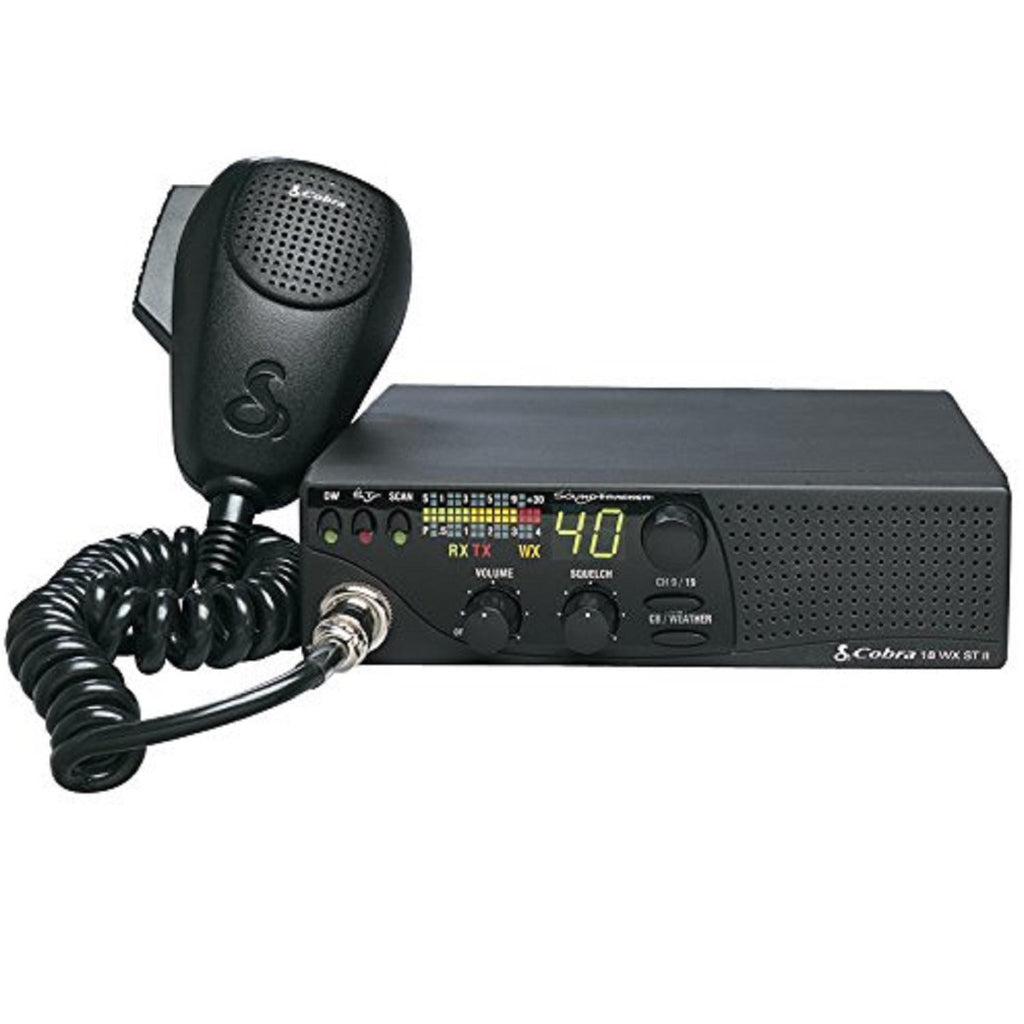 Cobra 18 WX ST II Compact CB Radio w-Weather & Soundtracker
