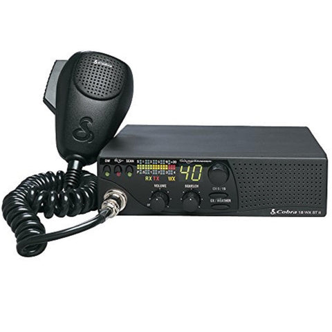 Cobra 18 WX ST II Compact CB Radio w-Weather and Snd trckr
