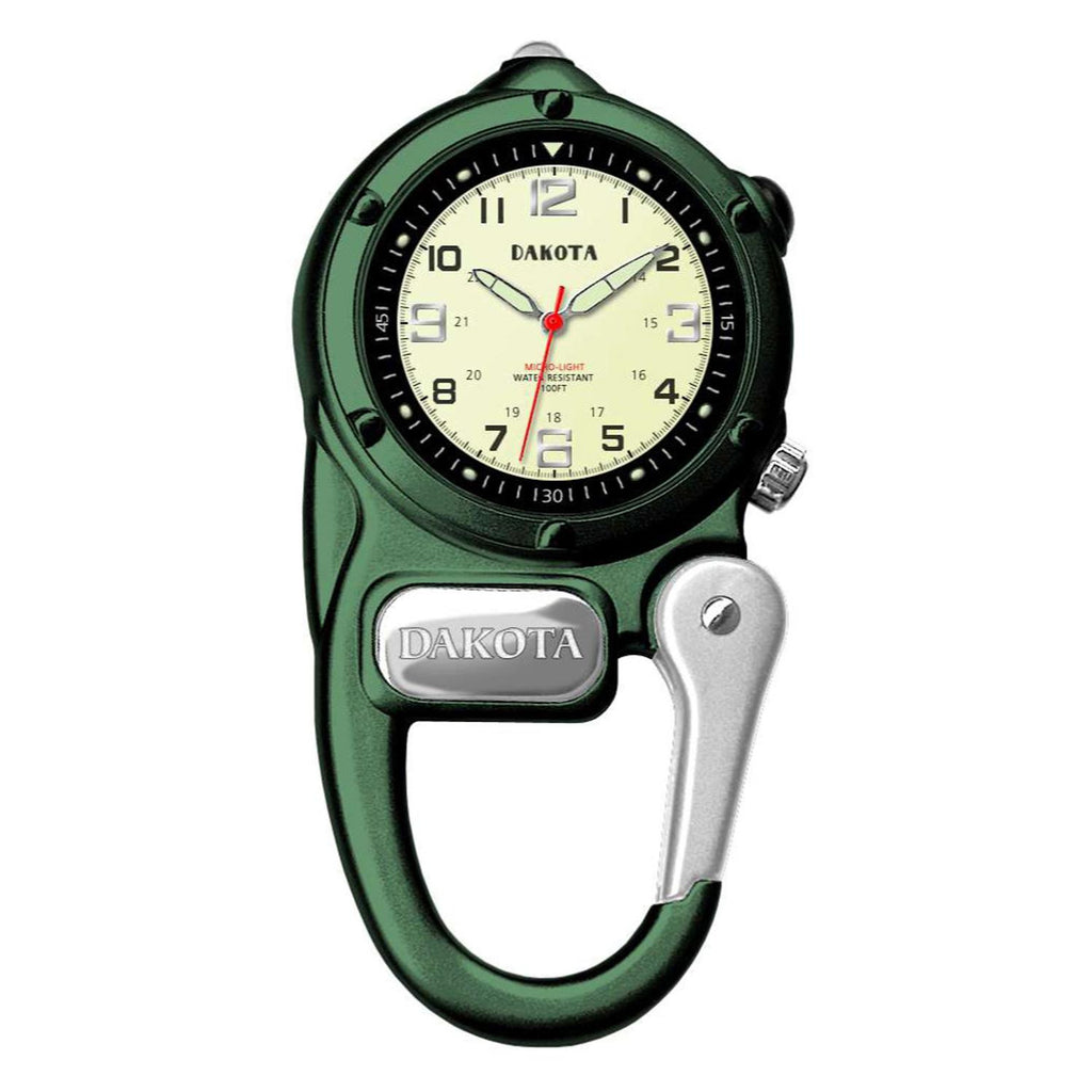 Dakota Watch Company Green Mini Clip Microlight Watch