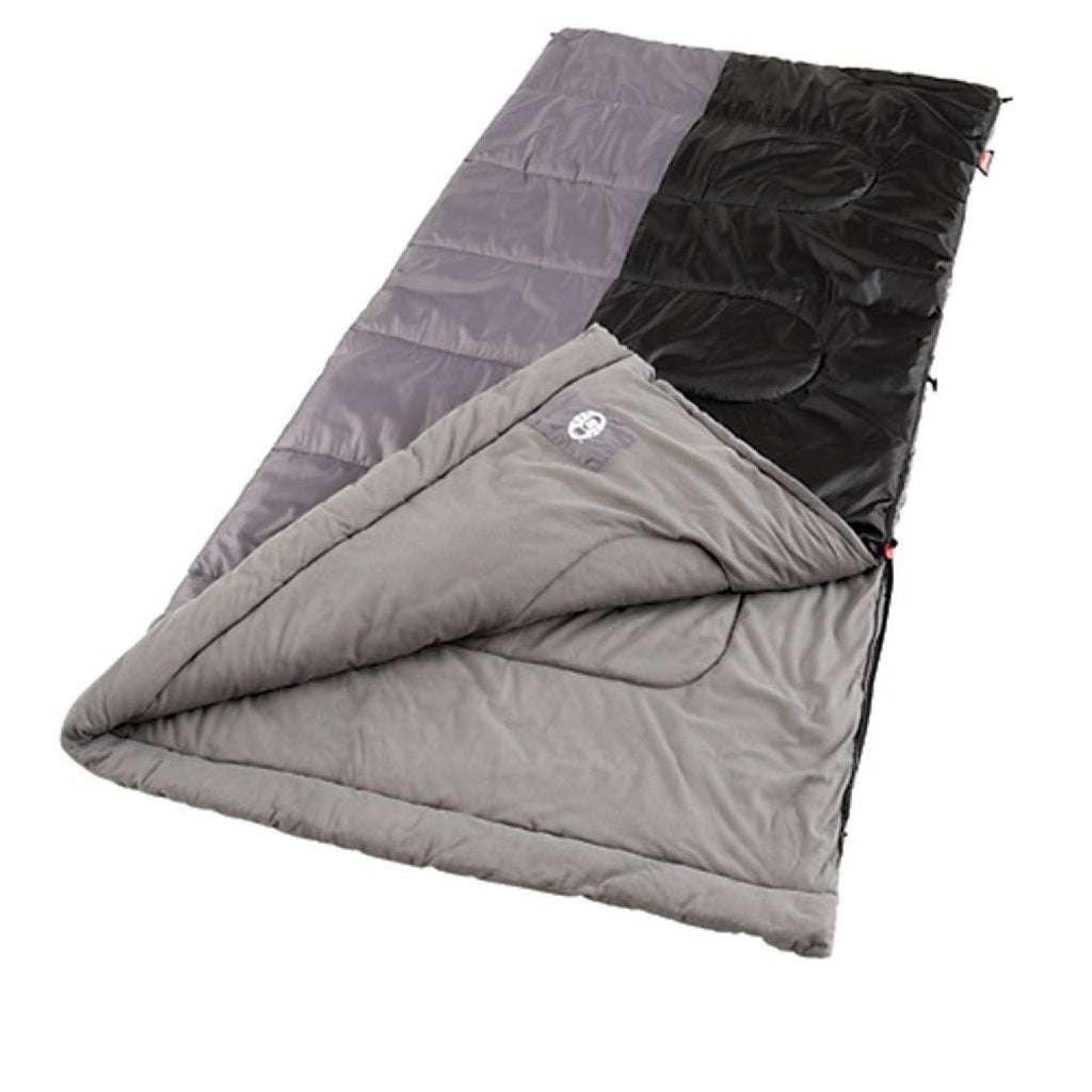Coleman Biscayne 81x39 Inch Rectangle Sleeping Bag Blck-Grey