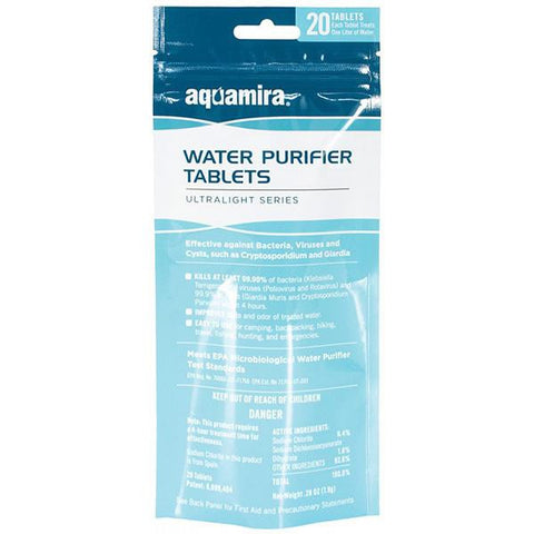Aquamira Water Purifier Tablets 20 Pack