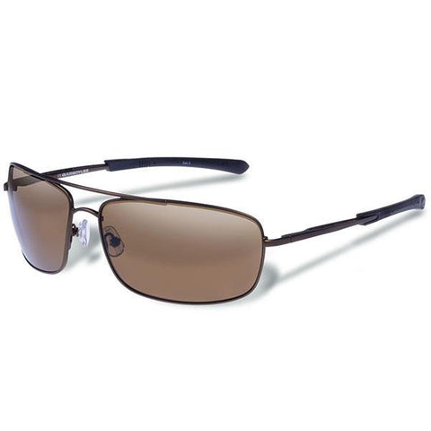 Barricade, Matte Brown Frame, Brown Polarized Lens