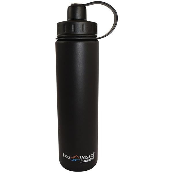 Boulder Triple Insulated Water Bottle, Black Shadow, 24 oz.