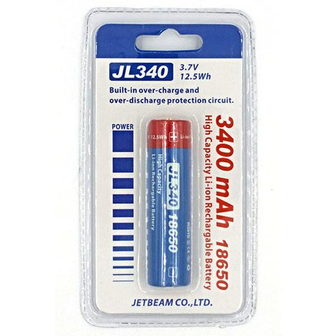 18650 Rechargeable Li-ion Battery, 3400mAh