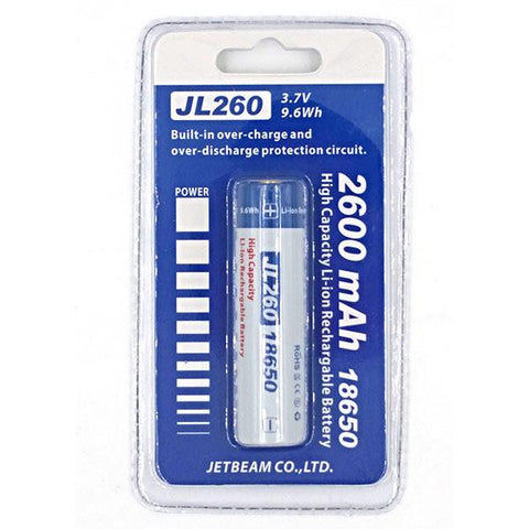Jetbeam 18650 Rechargeable Li-ion Battery 2600mAh