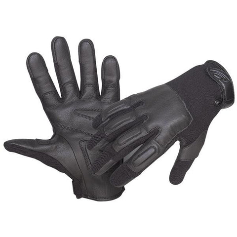 Defender II Riot Control Glove w-Steel Shot, Black, Large