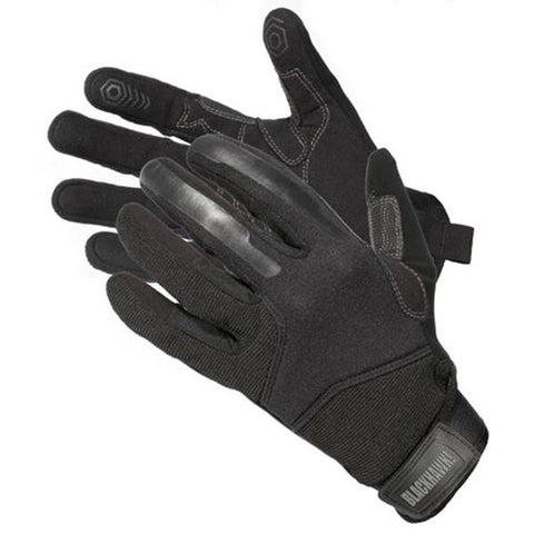 CRG1 Cut Resistant Patrol Gloves w-Kevlar, Black, Medium