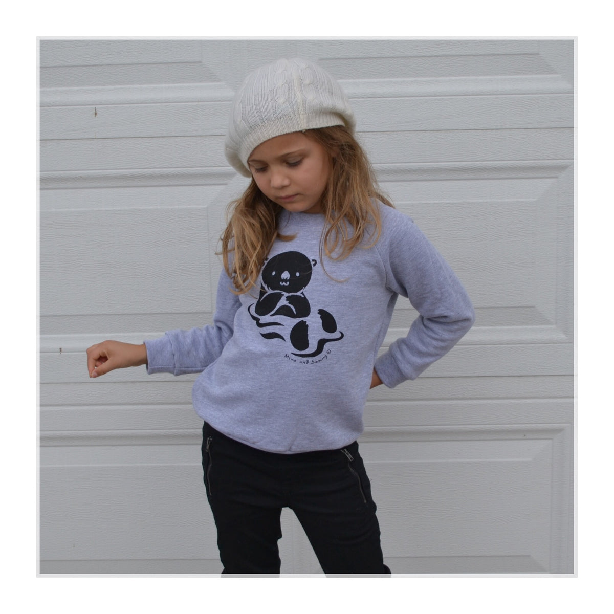 Modern trendy Otter themed sweater | Momo and Sammy Clothing Co.