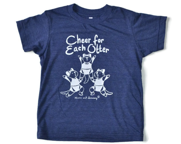 Cheer inspired modern kids tee | Momo and Sammy Clothing Co.
