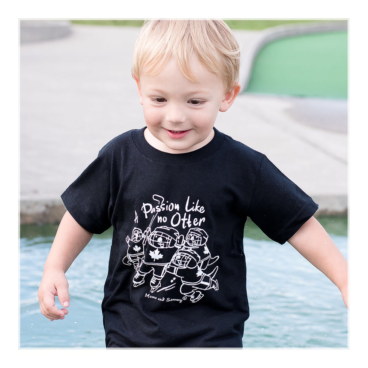 Kids Hockey Tee | Made in Nova Scotia | Momo and Sammy Clothing Co