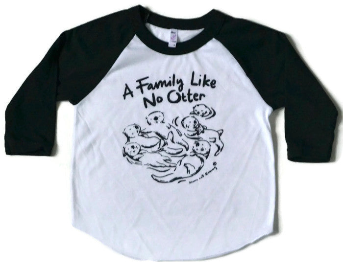 Family Like No Otter Kids Shirt | Handprinted in Nova Scotia