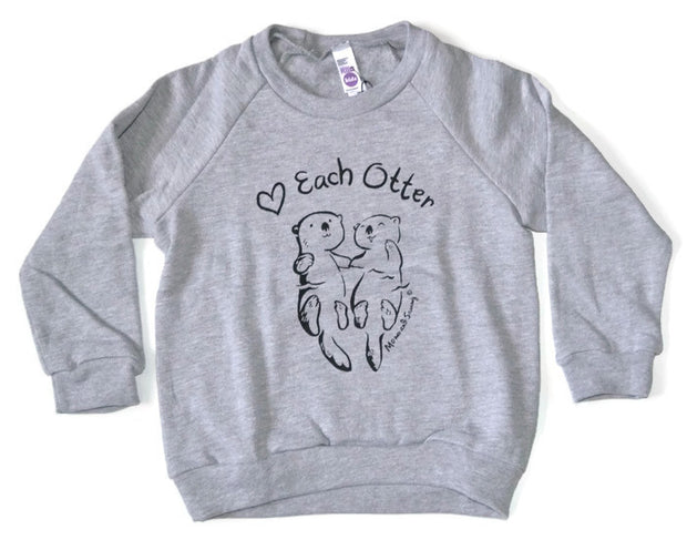 Love Each Otter Modern Kids Sweater || Momo and Sammy Clothing Co