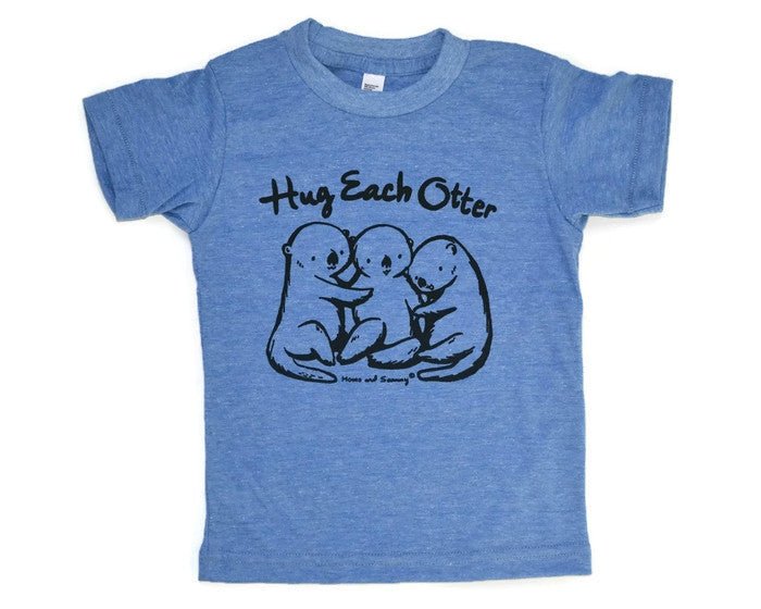 Modern OTTER Hug Kids Tee | Momo and Sammy Clothing Co.