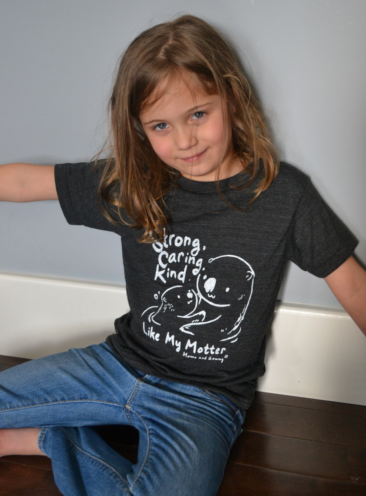Strong, Caring, Kind Modern Kids Tee |  Momo and Sammy Clothing Co.
