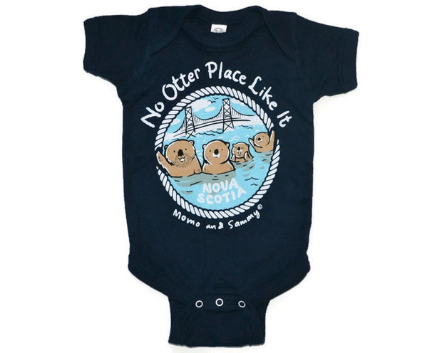 NS- NO OTTER PLACE LIKE IT! - Baby Onesie Navy