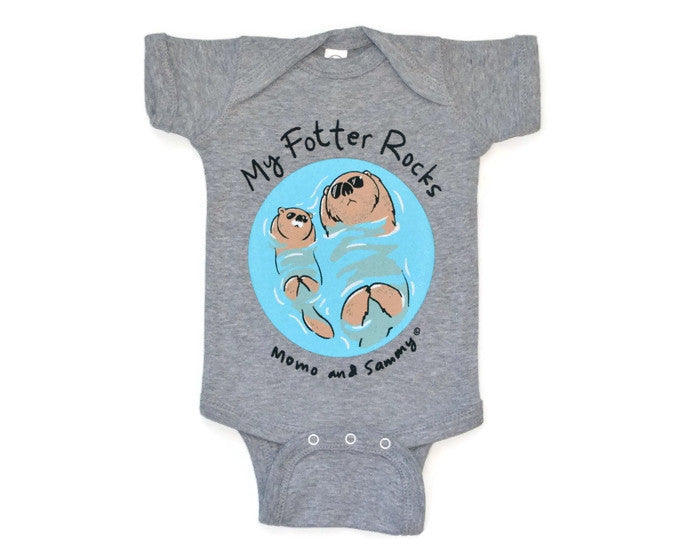MY FOTTER ROCKS - Baby Onesies GREY