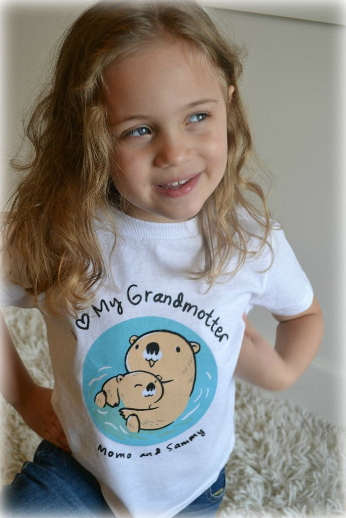 I HEART MY GRANDMOTTER - Kids Tee Pink