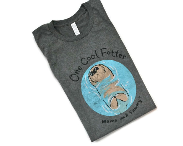 ONE COOL FOTTER - Mens Tee Grey