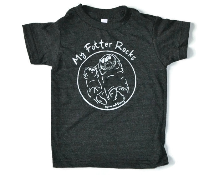 My Fotter Rocks - Playful Modern Grey Tee