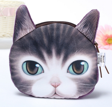 Coin purse-3d cat group1