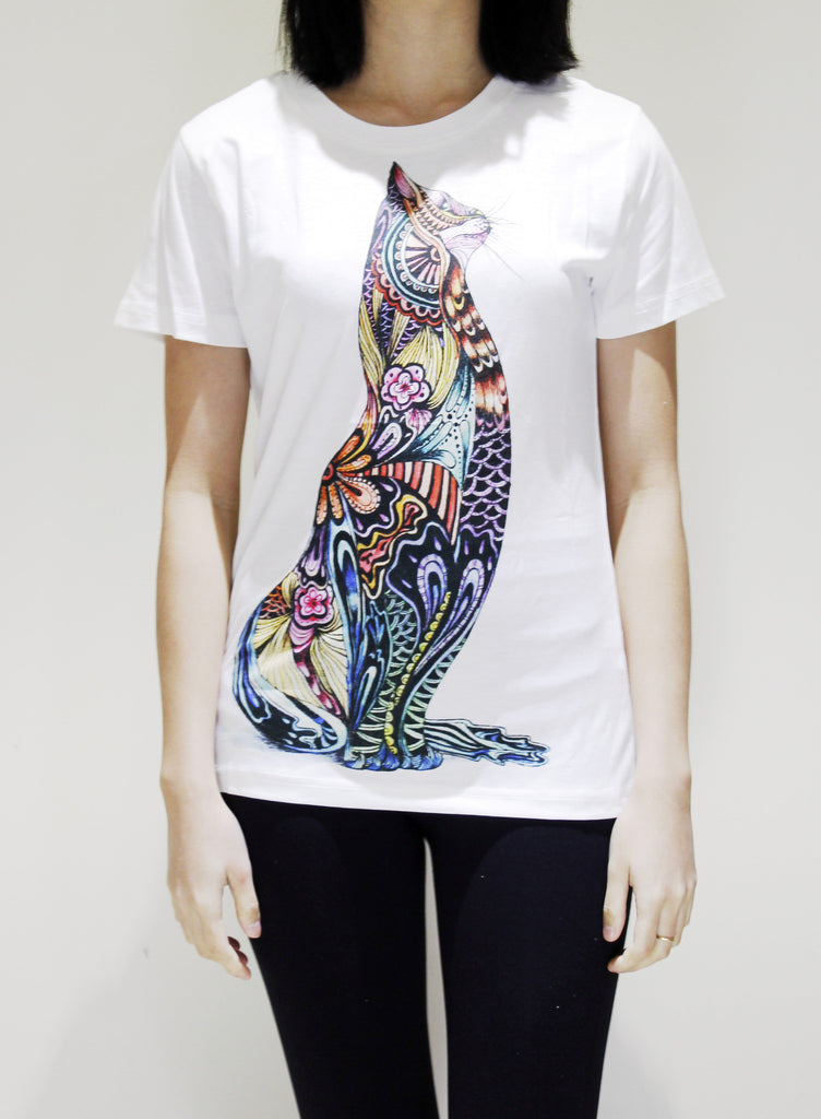 Tatoo cat T-shirt