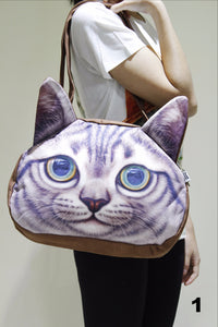 Cat 3D Printed Large shoulder bag