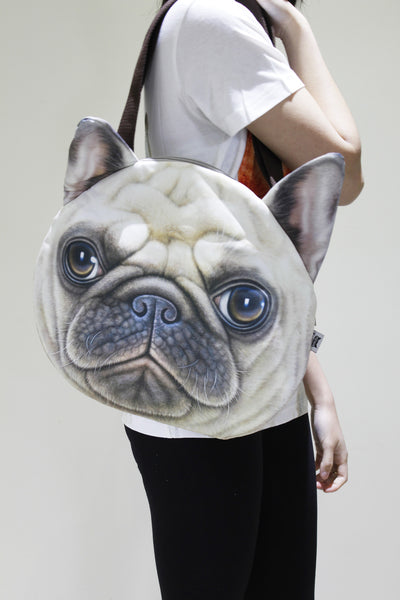 Dog 3D printed large shoulder bag