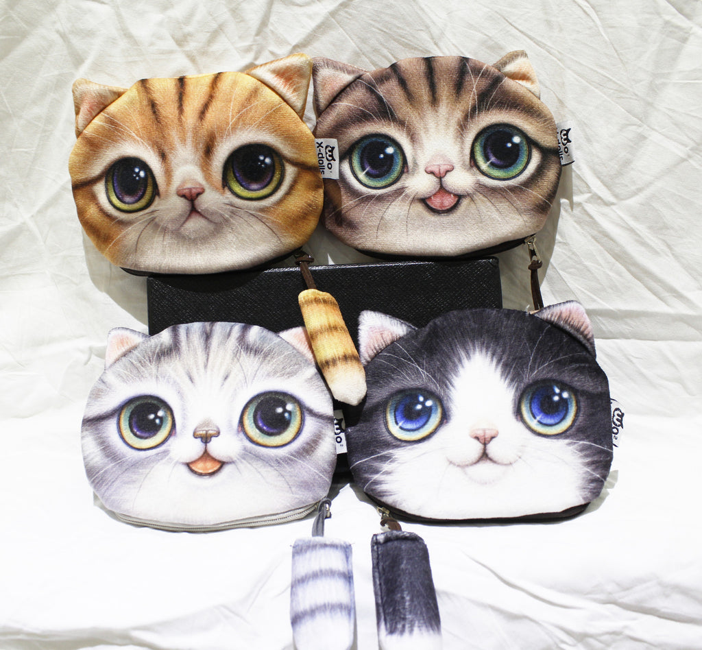 Large Coin purse-3d Cat group